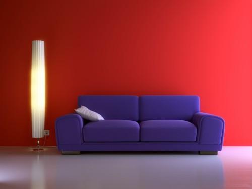 Červená barva v interiéru, zdroj: shutterstock.com
