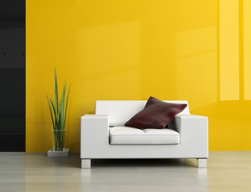 Žlutá barva v interiéru, zdroj: shutterstock.com
