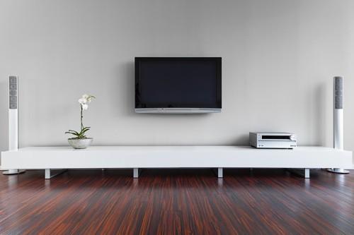 Minimalistická obývací stěna, zdroj: shutterstock.com