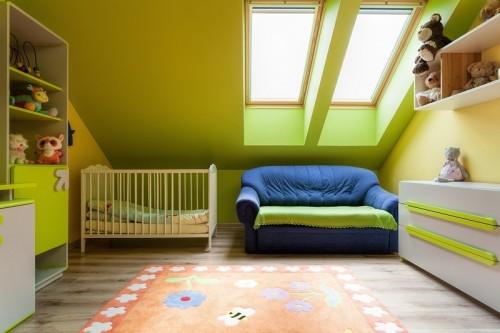 Střešní okna v dětském pokoji, zdroj: shutterstock.com